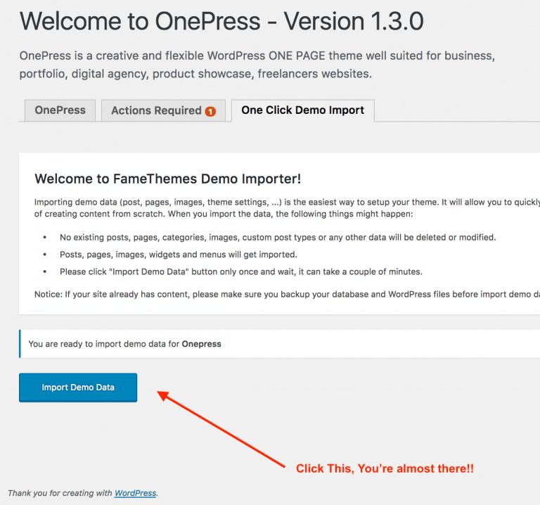 one-click-demo-wordpress-install