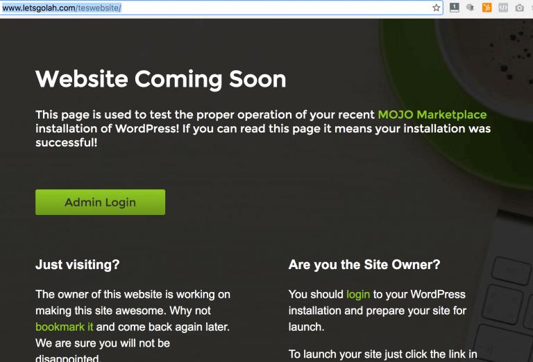 website coming soon